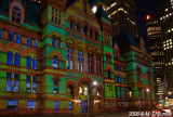 Old City Hall Light Show. Toronto, Christmas