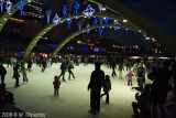 Nathan Phillips Square Ice Rink. Toronto, Christmas