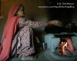Hamachal Grandmother and Cooking Stove