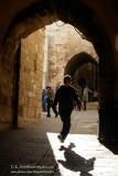 Soccor Ball Run, Jerusalem, Jewish Quarter, Israel