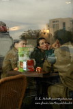 Israeli Soliders at Ease in Cafe, Ber Shiva, Israel