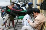 Roadside Barber, Hanoi (Mar 07)