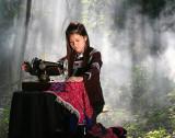 Girl Sewing Clothes (20 May 07)