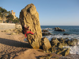 CB beach bouldering at Lloret