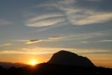 Sunset and Montgo