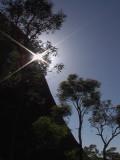 Sunshine at base of Ayers Rock