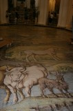 The floor of this chruch is actually a painting not a mural