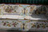 decorated benches