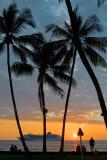 C4700 Sunset at Kona Inn Terrace