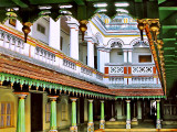 Chettinad Palace: Central courtyard