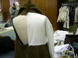 Close up of Back Muslin with Collar Raised