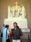 Rene en Monumento a Lincoln