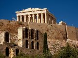 The Parthenon atop the acropolis and the theatre of Herodus Atticus