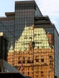 The Hotel Vancouver reflected