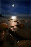 Shore moon light