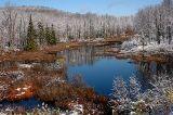 early snow near Old Forge, Adirondacks