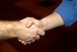 Friend's handshake?