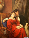 Astronomer Carl Ludwig Edler von Littrow and his wife