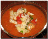 Cold Tomato Gazpacho with Crab Relish
