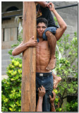 Greased Pole Climbing