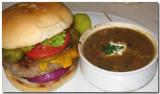 Cheeseburger & Bean With Bacon Soup