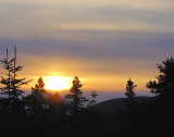 Winter sunset over Pouch Cove