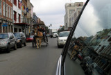 Hanging Out the Window of the Car in New Orleans'  French Quarter