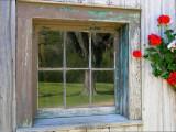 Reflections in a Barn Window