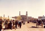 Jama Masjid and bazaar in back