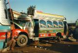 Bus in workshop