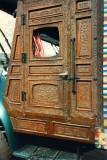 Carved wood cab