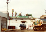 Mosque and gas truck
