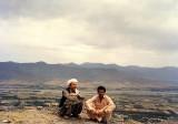 On hill overlooking Mingora, Swat