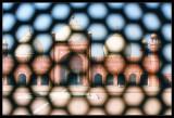 Badshahi Mosque seen through screen