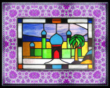 Stained-glass Mosque window