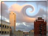 Strange clouds