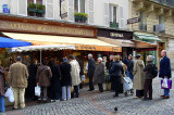 Waiting for Bread on Sunday Morning, Rue Cler, Paris