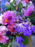 Dahlia Bouquet with Delphinium, Foxglove