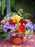 Dahlia Bouquet with Hydrangea & Feverfew