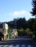 Looking Down Bolinas Road to Broadway