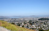 view of Mission District, SF, from Twin Peaks