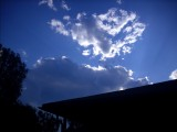 A sky came an took the sun away:(