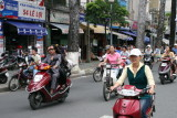 streets packed with motorbikes