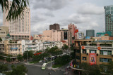 view onto Saigon from top of Rex hotel