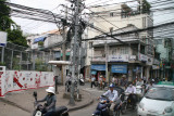 lots of wires and motorbikes