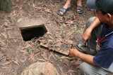 entrance to Cu Chi tunnels, an incredible network of tiny underground passages dug by the Viet Cong to combat the US