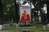 communist slogans on streets of Ho Chi Minh City