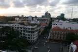 view onto Saigon from top of Caravello hotel