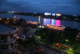 view onto Saigon river from hotel Majestic