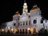 The City Hall of Ho Chi Minh City by night